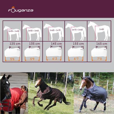 Попона денникова для коня Fouganza3