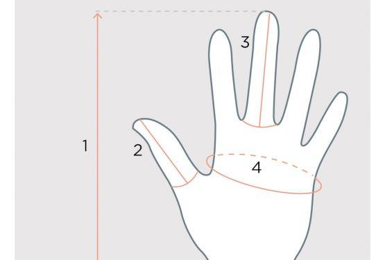 Як визначити розмір рукавичок - заміряємо руку