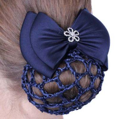 Сітка для волосся з декоративним бантом і застібкою QHP1