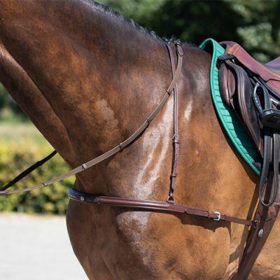 Нагрудник шкіряний для коня, QHP